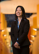 Sandy Gaw poses for a photograph at DeChaumes Elementary School, April 27, 2015.