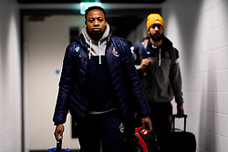 Panos Mayindombe of Bristol Flyers arrives at Copper Box Arena prior to kick off - Photo mandatory by-line: Ryan Hiscott/JMP - 18/12/2019 - BASKETBALL - Copper Box Arena - London, England - London Lions v Bristol Flyers - British Basketball League Championship