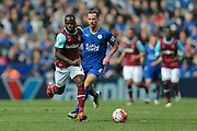 West Ham United midfielder, on loan from Chelsea, Victor Moses (20)   during the Barclays Premier League match between Leicester City and West Ham United at the King Power Stadium, Leicester, England on 17 April 2016. Photo by Simon Davies.