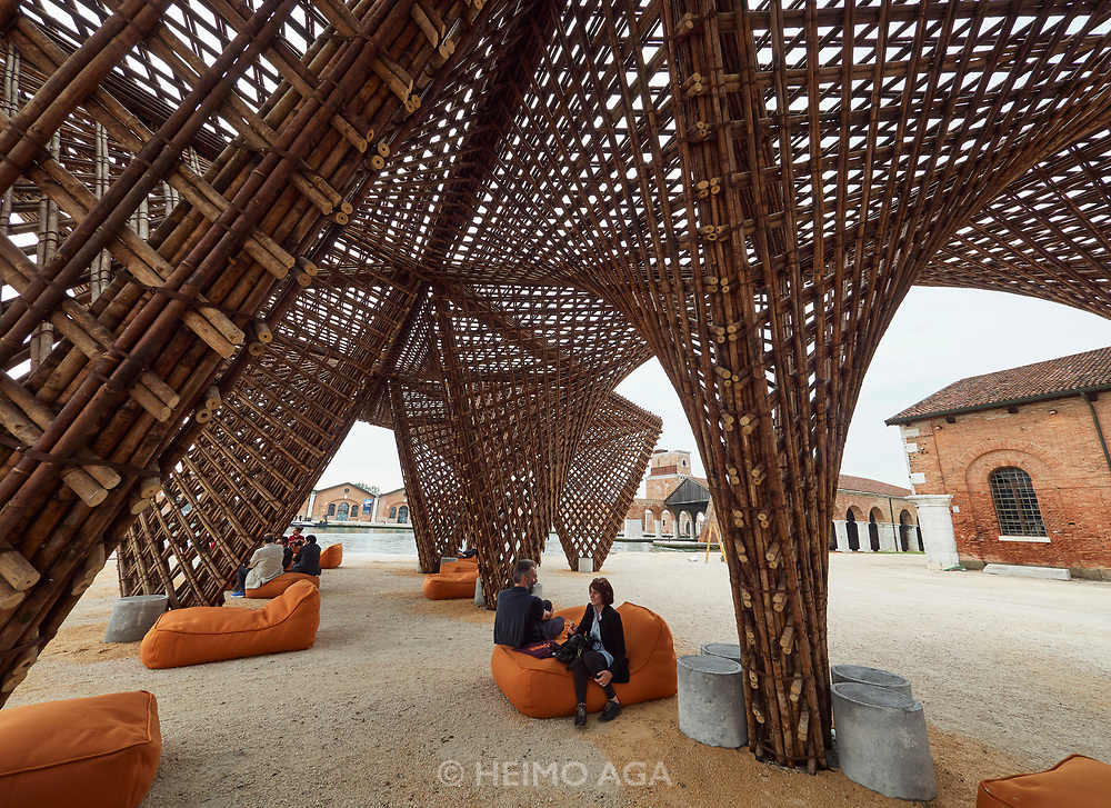 "FREESPACE - 16th Venice Architecture Biennale. Arsenale. Vietnam. VTN Architects, ""Bamboo Stalactite""."