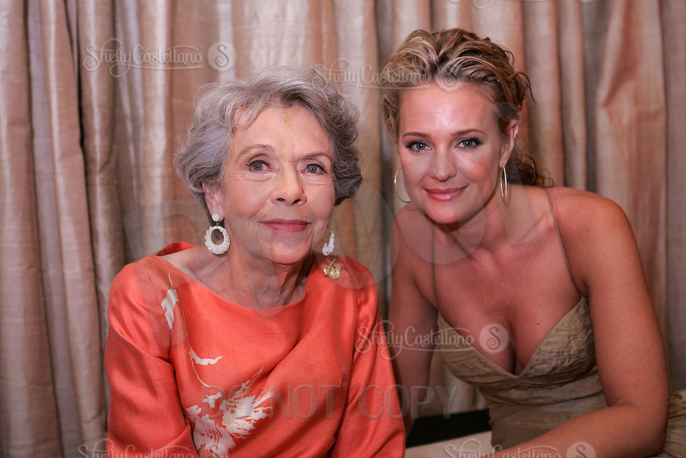 28 April 2006: Actress Helen Wagner with Sharon Case of As The World Turns in the exclusive behind the scenes photos of celebrity television stars in the STAR greenroom at the 33rd Annual Daytime Emmy Awards at the Kodak Theatre at Hollywood and Highland, CA. Contact photographer for usage availability.