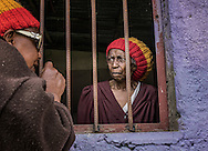 Jamaican woman who has immigrated to Shashemene.  The Rift Valley of Ethiopia.