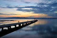 Sunset at El Trabucador Beach in Ebro Delta, Tarragona. Catalonia, Spain.