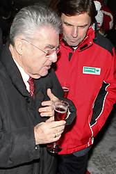 08.02.2013, Landalm, Rohrmoos-Untertal, AUT, FIS Weltmeisterschaften Ski Alpin, Empfang durch Landeshauptmann Franz Voves, Steiermark, im Bild Heinz Fischer, Bundespraesident von Oesterreich, und Franz Voves, Landeshauptmann der Steiermark // Heinz Fischer, Federal President of Austria, and Franz Voves, governor of Styria, at a receiving from governor Franz Voves, Styria, during FIS Ski World Championships 2013 at the Landalm, Rohrmoos-Untertal, Austria on 2013/02/08. EXPA Pictures © 2013, PhotoCredit: EXPA/ Martin Huber