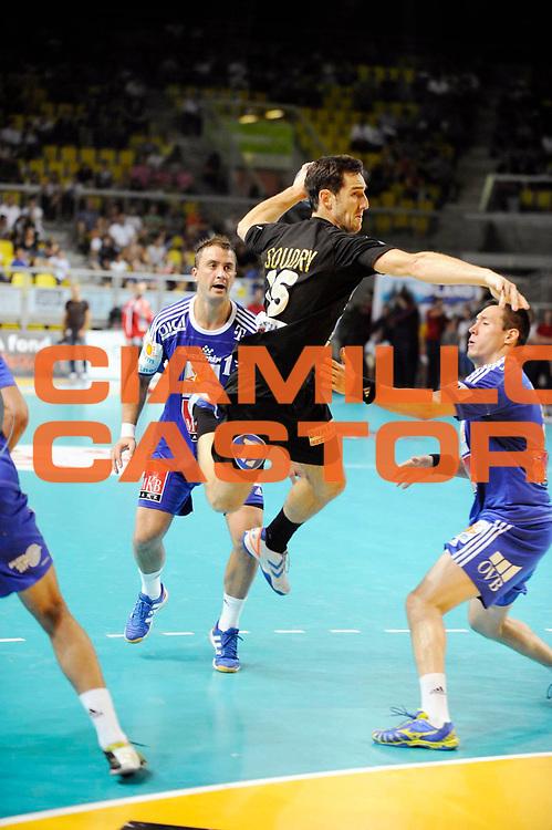 DESCRIZIONE : Handball Homme Eurotournoi<br /> GIOCATORE : SOUDRY Pierre<br /> SQUADRA : Dunkerque<br /> EVENTO : Eurotournoi<br /> GARA : Dunkerque Veszprem<br /> DATA : 31 08 2013<br /> CATEGORIA : Handball Homme<br /> SPORT : Handball<br /> AUTORE : JF Molliere