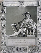 Gaston de Foix, Duke of Nemours (1489-1512) French military commander. War of the League of Cambrai. Killed at the Battle of Ravenna 11 April 1512. French engraving 1655.