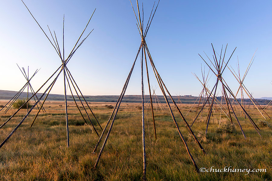 Site of Chief Joseph of the Nez Perce campsite at Big Hole National Battlefield, Montana, USA<br /> Site of the Nez Perce encampment at Big Hole National Battlefield, Montana, USA