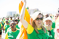 22/11/2015  repro fee. A group of  irish people travelled with Gorta-Self Help Africa travelled to the capital of Ethiopia Addis Ababa for the great Ethiopian run. In temperatures in the mid 30 degree heat and 40,000 people and a city at 7,500 feet above sea level, it's no mean feat.  Ciara Tallon from Gorta Self Help Africe  at the end of the race   .  Photo:Andrew Downes.