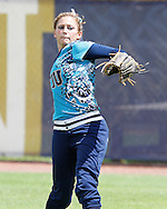 Erika Arcuri shows off the arms strengh prior to the game against Western Kentucky.