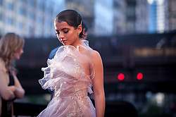 Isabela Moner walks to the red carpet at the US Premier of 'Transformers: The Last Knight' on the Chicago River in front of the Civic Opera House on Tuesday June 20, 2017 in Chicago, IL. Photo: Christopher Dilts / Sipa USA *** Please Use Credit from Credit Field ***