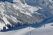 Backcountry skiers North Cascades Washington