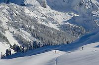 Backcountry skiers North Cascades Washington