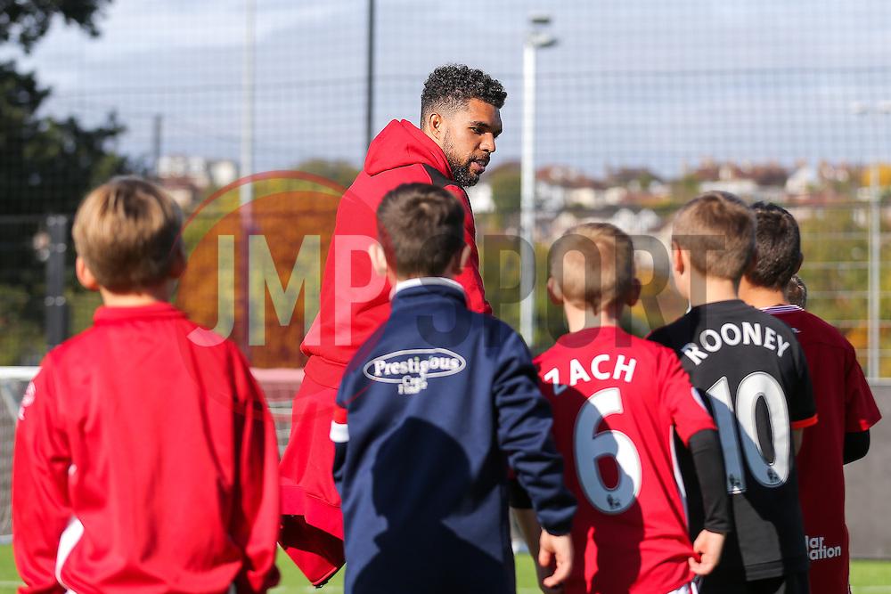 Scott Golbourne of Bristol City visits the Bristol CIty Community Trust half term football camp - Rogan Thomson/JMP - 27/10/2016 - FOOTBALL - South Bristol Sports Centre - Bristol, England.