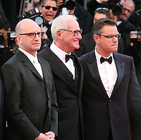Steven Soderbergh, Jerry Weintraub and Matt Damon.at the 'Behind The Candelabra' gala screening at the Cannes Film Festival  Tuesday 21 May 2013