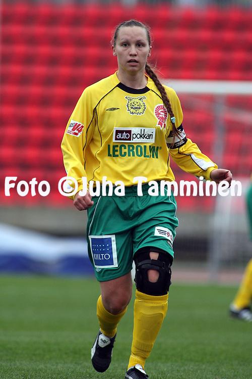 20.05.2006, Ratina, Tampere, Finland..Naisten SM-sarja 2006.Ilves - FC United Pietarsaari.Mirka Ruotsalainen - Ilves.©Juha Tamminen.....ARK:k