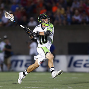 Steve DeNapoli #70 of the New York Lizards prepares to take a shot on goal during the game at Harvard Stadium on July 19, 2014 in Boston, Massachusetts. (Photo by Elan Kawesch)