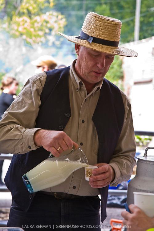 Raw milk proponent Michael Schmidt.