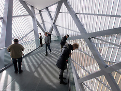 Viewing platform at Military Historical Museum of the Bundeswehr (MHM) in Dresden Saxony Germany after renovation by Architect Daniel Libeskind