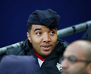 Troy Deeney of Watford starting on the bench during the premier league match at Wembley Stadium, London. Picture date 30th April 2018. Picture credit should read: David Klein/Sportimage