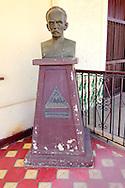 Bust of Marti at the masonic lodge in Bauta, Artemisa, Cuba.