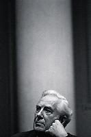 ca. 1976, St. Paul, Minnesota, USA --- Supreme Court Chief Justice Warren Burger --- Image by © Owen Franken/CORBIS