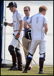 Prince William and Prince Harry Playing in the Audi Polo Challenge Charity Polo match at Coworth Polo Club, Ascot, United Kingdom,<br /> Saturday, 3rd August 2013<br /> Picture by Andrew Parsons / i-Images