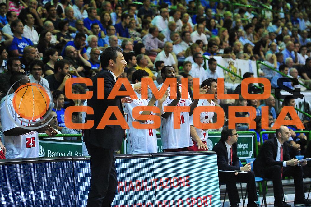 DESCRIZIONE : Campionato 2013/14 Semifinale GARA 6 Dinamo Banco di Sardegna Sassari - Olimpia EA7 Emporio Armani Milano<br /> GIOCATORE : Luca Banchi Panchina<br /> CATEGORIA : Esultanza<br /> SQUADRA : Olimpia EA7 Emporio Armani Milano<br /> EVENTO : LegaBasket Serie A Beko Playoff 2013/2014<br /> GARA : Dinamo Banco di Sardegna Sassari - Olimpia EA7 Emporio Armani Milano<br /> DATA : 09/06/2014<br /> SPORT : Pallacanestro <br /> AUTORE : Agenzia Ciamillo-Castoria / M.Turrini<br /> Galleria : LegaBasket Serie A Beko Playoff 2013/2014<br /> Fotonotizia : DESCRIZIONE : Campionato 2013/14 Semifinale GARA 6 Dinamo Banco di Sardegna Sassari - Olimpia EA7 Emporio Armani Milano<br /> Predefinita :