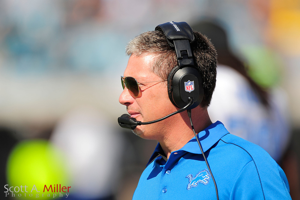 Detroit Lions head coach Jim Schwartz during his team's 31-14 win over the Jacksonville Jaguars at EverBank Field on November 4, 2012 in Jacksonville, Florida. ..©2012 Scott A. Miller..