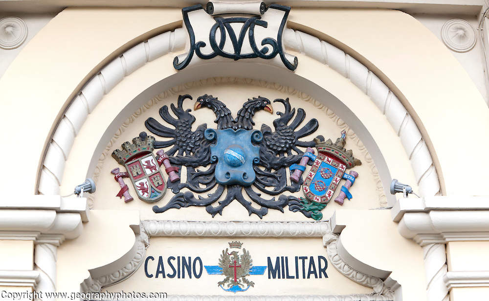 Melilla autonomous city state Spanish territory in north Africa, Spain -  coat of arms dating from Franco's dictatorship