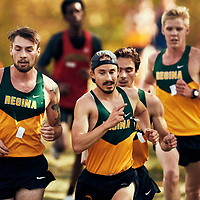Greg Hetterley and Marc Turmel battle it out during the Regina Cougars Cougar Trot on Sat Sep 15 at Wascana Park. Credit: Arthur Ward/Arthur Images