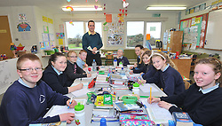 Class Act  Ballintubber's Alan Plunkett pictured teaching pupils from Killawalla NS last week.<br /> Pic Conor McKeown