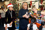 New York, NY- December 25- l to r: Victoria Panell and Rev. Al Sharpton at the Rev. Al Sharpton and National Action Network Feeding of the Hungry on Christmas Day & Toy Giveaway at the Annual NAN Event held at the NAN's House of Justice on December 25, 2011 in Harlem, New York City. Photo Credit: Terrence Jennings