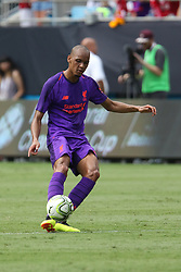 July 22, 2018 - Charlotte, NC, U.S. - CHARLOTTE, NC - JULY 22: Fabinho (3) of Liverpool eith the ball during the International Champions Cup soccer match between Liverpool FC and Borussia Dortmund in Charlotte, N.C. on July 22, 2018. (Photo by John Byrum/Icon Sportswire) (Credit Image: © John Byrum/Icon SMI via ZUMA Press)
