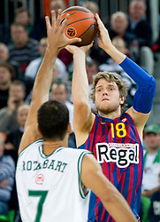 Charles Judson Wallace of FC Barcelona Regal during basketball match between KK Union Olimpija and FC Barcelona Regal of 1st Round in Group D of Regular season of Euroleague 2011/2012 on October 20, 2011, in Arena Stozice, Ljubljana, Slovenia. (Photo by Vid Ponikvar / Sportida)