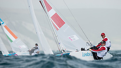 2012 Olympic Games London / Weymouth<br /> HESTBAEK Michael, Olesen Claus, (DEN, Star)
