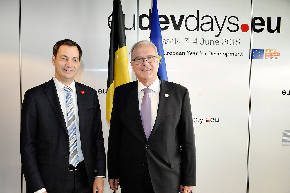 20150604- Brussels - Belgium - 04 June2015 - European Development Days - EDD  - Neven Mimica DEVCO  and Alexander De Croo Belgian Minister  © EU/UE