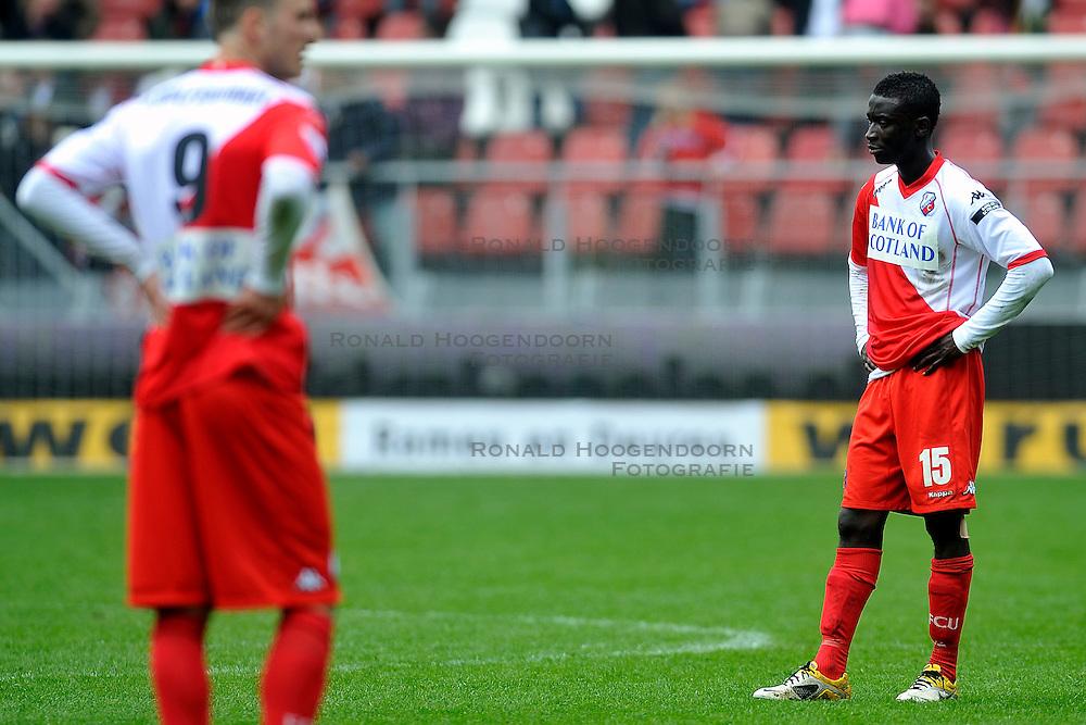 03-04-2011 VOETBAL: FC UTRECHT - ADO DEN HAAG: UTERCHT<br /> (L-R) Ricky van Wolswinkel, Nana Asare<br /> &copy; Ronald Hoogendoorn Photography