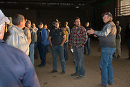 Master Cattleman Class participants in Tulsa County. Current and future owners of cattle learn good practice procedures for growing and maintaining a cattle operation.