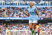 Manchester City Women forward Georgia Stanway (10) reacts during the FA Women's Super League match between Manchester City Women and Manchester United Women at the Sport City Academy Stadium, Manchester, United Kingdom on 7 September 2019.