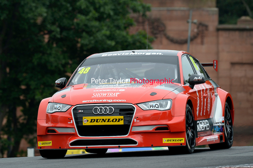 #48 Ollie Jackson GBR AmD Tuning Audi S3  during first practice for the BTCC Oulton Park 4th-5th June 2016 at Oulton Park, Little Budworth, Cheshire, United Kingdom. June 04 2016. World Copyright Peter Taylor/PSP.