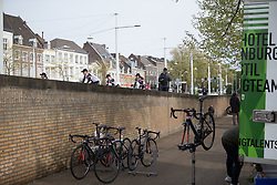 Team Sunweb ride to the sign-on before the Amstel Gold Race Ladies Edition - a 121.6 km road race, between  Maastricht and Valkenburg on April 16, 2017, in Limburg, Netherlands.