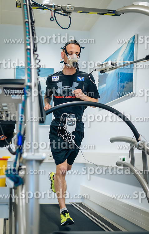 02.05.2016, Bezirkskrankenhaus, St. Johann i.T., AUT, OeSV, Skisprung, Sportmedizinische Untersuchung, im Bild Manuel Fettner (AUT) // Manuel Fettner of Austria undergoes his medical examination of the Austrian Skijumping Team at the Sports Medicine Institute, St. Johann i.T. on 2016/05/02. EXPA Pictures © 2016, PhotoCredit: EXPA/ JFK