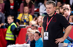 Coach of Hypo Ferenc Kovacs at handball match of Round 3 of Champions League between RK Krim Mercator and Hypo Niederosterreich, on November 8, 2009, in Arena Kodeljevo, Ljubljana, Slovenia.  Krim won 35:24. (Photo by Vid Ponikvar / Sportida)