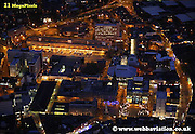 aerial photograph of  Preston at night  Preston Lancashire , England UK