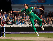Albie Morkel can't stop a Shahid Afridi drive off his bowling during the ICC World Twenty20 Cup semi-final between South Africa and Pakistan at Trent Bridge. Photo © Graham Morris (Tel: +44(0)20 8969 4192 Email: sales@cricketpix.com)