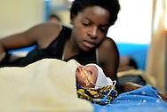 A mother and her newborn in the neonatal department at Kibuye Hospital, Karongi District, Western Rwanda