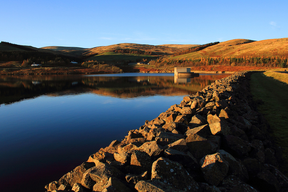 Megget Reservoir in the Scottish Borders is one of many reservoirs supplying the Edinburgh region. Run by Scottish Water.