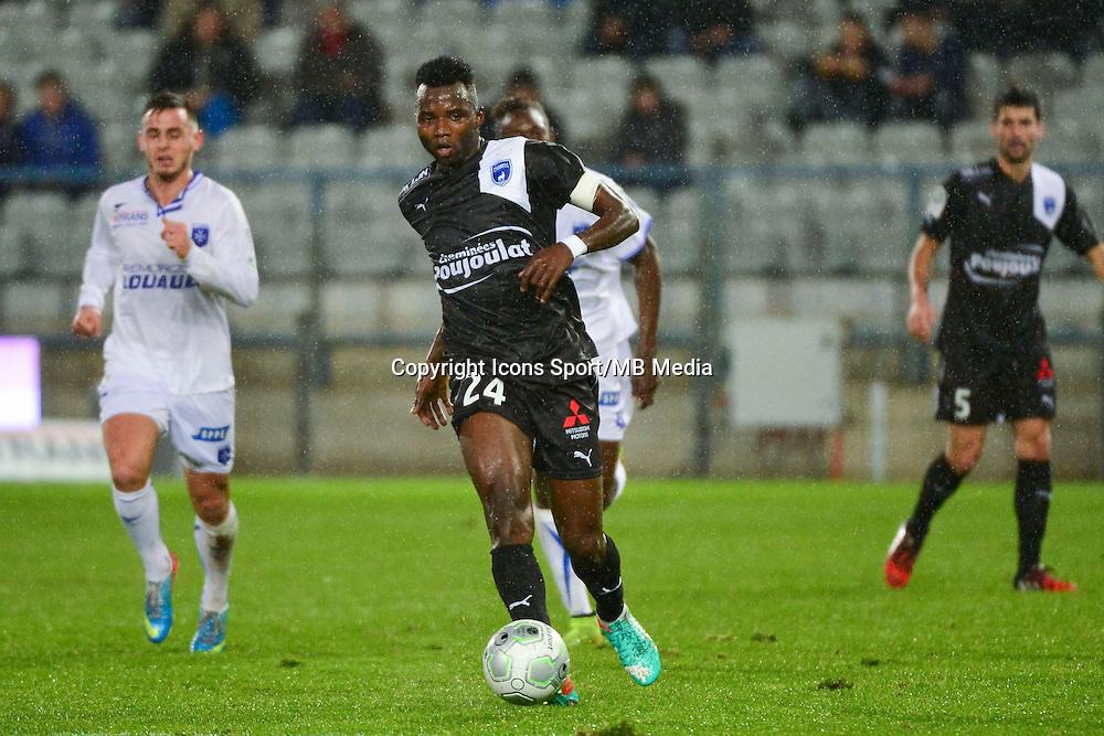Djiman KOUKOU   - 19.12.2014 - Auxerre / Niort - 18e journee Ligue 2<br /> Photo : Dave Winter / Icon Sport