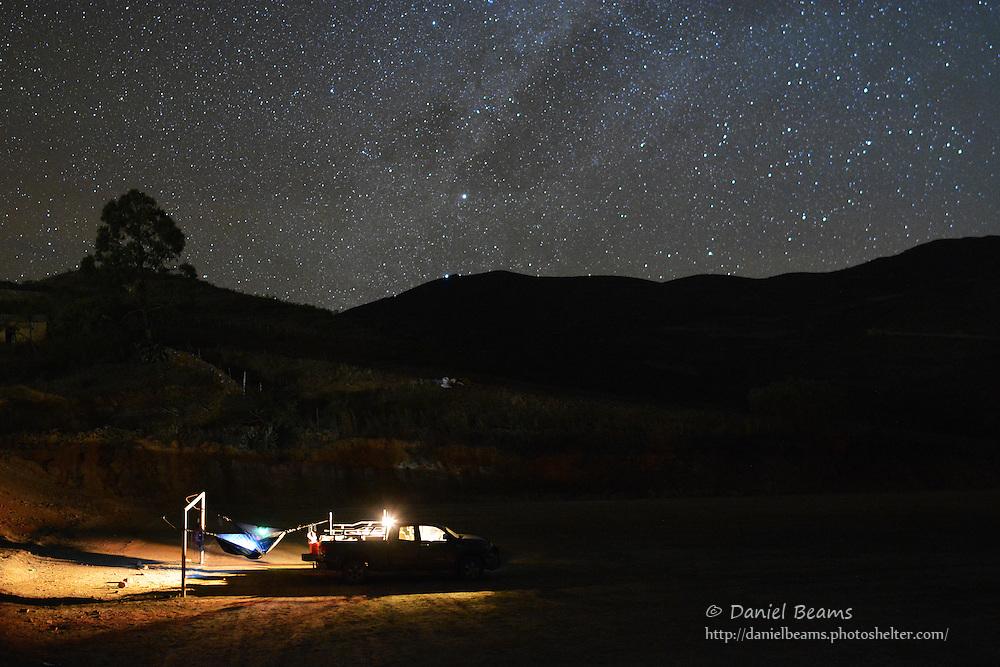Camping in Moro Moro, Santa Cruz, Bolivia