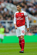Mesut Ozil (#10) of Arsenal during the Premier League match between Newcastle United and Arsenal at St. James's Park, Newcastle, England on 15 September 2018.